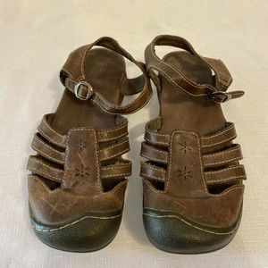 KEEN Cush Leather Strappy Sandals Hiking Walking